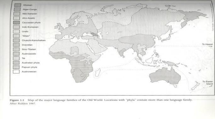 The First Communication Technology Gendered Grammar And Culture - Old world language families map